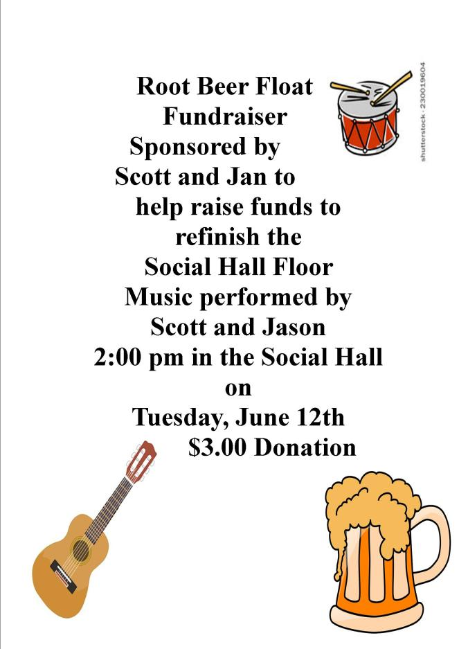 June Root Beer Fundraiser