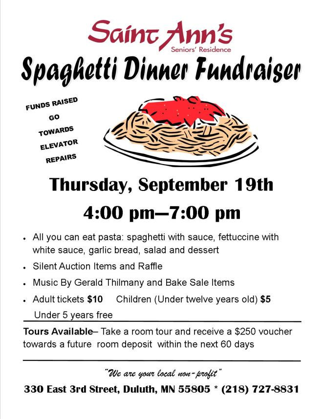 Tom's version Website Spaghetti Dinner and Open House Poster2019