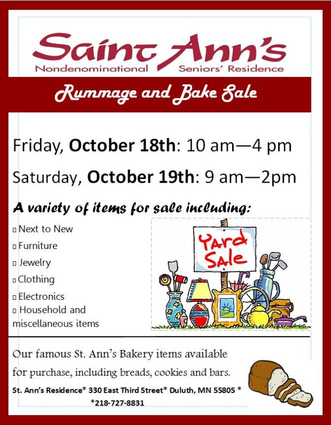 October 18th 2019 Rummage Sale Image