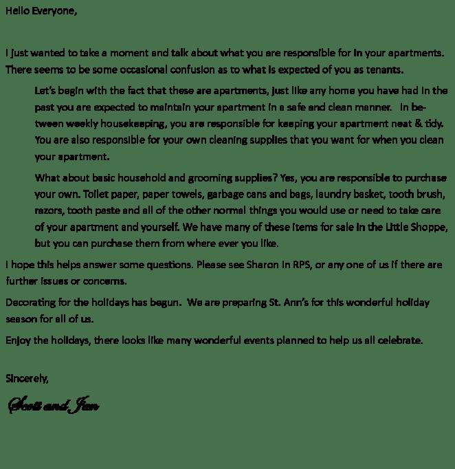 December 2019 Admin letter