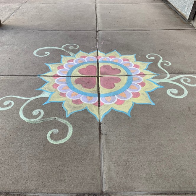 Chalk art outside